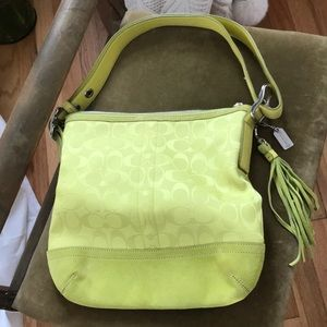 Lime Green Coach Bag